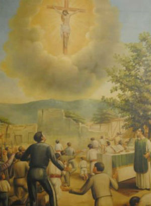 Christ apparition in Mexico