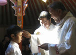 Image of Mongolia gets its first native priest.