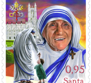 The Mother Teresa stamp announced by the Vatican.