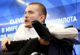 Image of Valery Spiridonov is set to become the world's first human transplant patient (EPA).