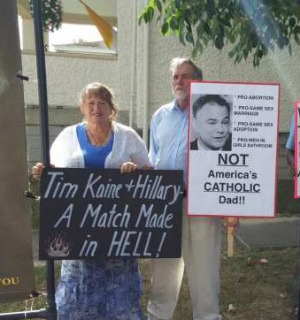 Catholics deliver powerful message to Hillary's pro-abortion running mate
