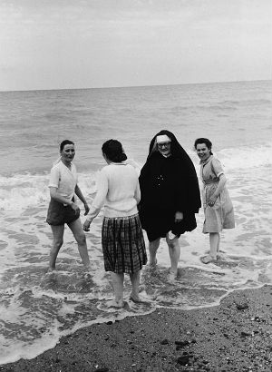 Nuns oppressed at French beach