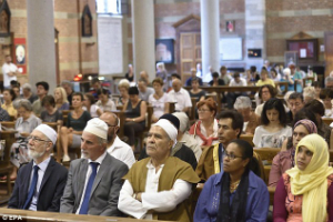 Muslims attend Mass to show solidarity with Catholics