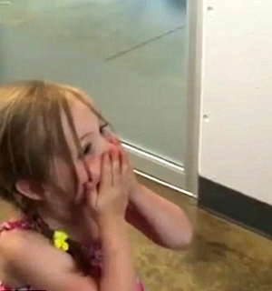 'I MISSED YOU SO MUCH!' Heartwarming moment little girl is reunited with long-lost cat after THREE YEARS missing