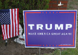 Image of More people are reporting their Trump campaign signs missing.