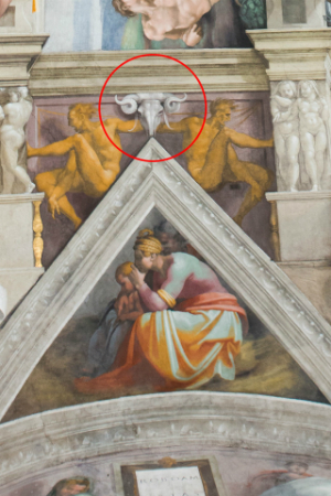 Did Michelangelo paint a secret message on the roof of the Sistine Chapel?