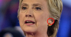 Sources: Hillary Clinton wore earpice before