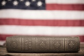 Image of American Flag and Bible
