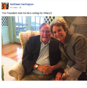 Why did George H.W. Bush say he is voting for Clinton? Because he's part of the globalist establishment, that's why