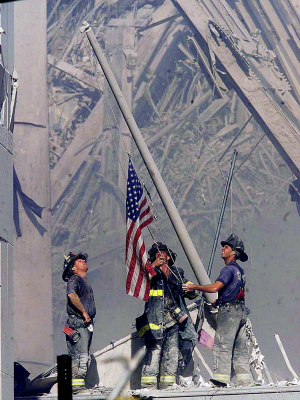 Famous 9/11 flag that gave hope to millions turns up 3,000 miles away from Ground Zero