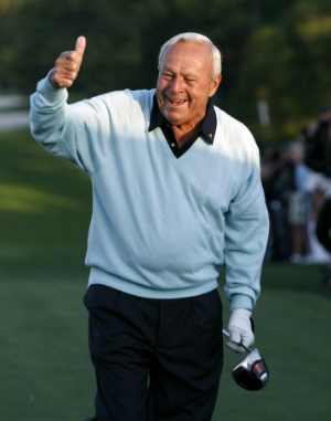 Arnold Palmer won 95 professional championships and seven major tournaments.