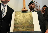 Image of Van Gogh paintings recovered by anti-Mafia police (EPA).