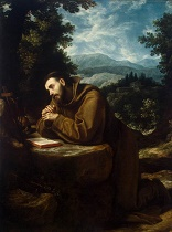 Image of Francis of Assisi in prayer