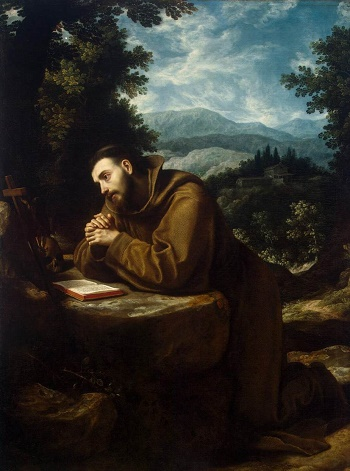 Francis of Assisi in prayer