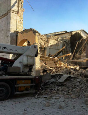 'They are at their wits' end' - Basilica of St. Benedict destroyed in quake