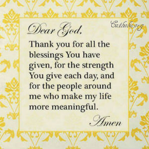 Your Daily Inspirational Meme: Dear God, Thank You For All The Blessings