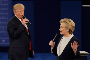 TRUMP: 'Because you'd be in jail!' Trump pummels Clinton in debate-turned prizefight
