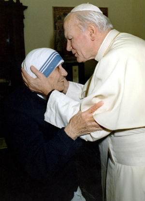 The beautiful meeting of John Paul II and Mother Teresa