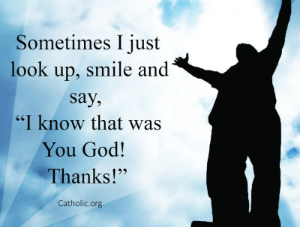 Your Daily Inspirational Meme: Look up and Thank God!