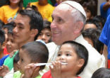 Image of Pope Francis spent time with some of Rome's children.