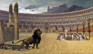 Martyrs were put to death in the Circus Maximus, as shown in this classic artwork.
