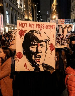 Why protesting Trump is an absurd exercise in futility