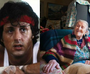 What does the world's oldest woman have in common with Rocky Balboa?