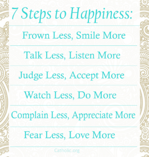 Your Daily Inspirational Meme: 7 Steps to Happiness