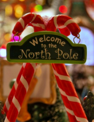 Beautiful young cancer patients take a magical ride to the 'North Pole' to meet Santa and Mrs. Claus