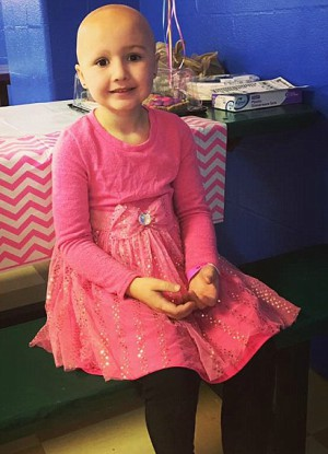 Heartbreaking moment little beauty with disease is left in tears when NO ONE shows for her 6th birthday party - And how a group of strangers turned her frown upside-down
