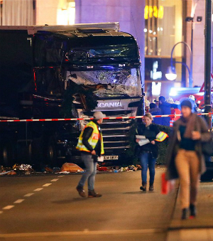 TERRORIST plows though Christmas market, killing up to a dozen people