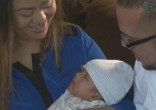 Image of Little Matthew was delivered safely (ABC 10).