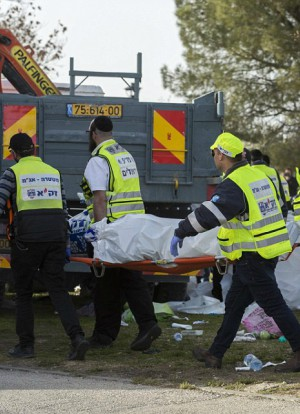 Four people were slaughtered when the truck hit them (EPA).