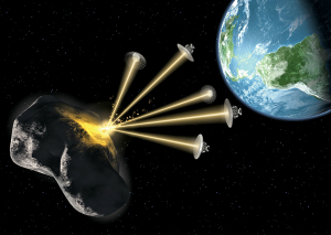 Plans to deflect an asteroid include using lasers, mirrors, and solar sails to change its orbit.