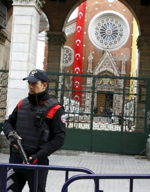 Turkey ups its security at churches but patrons are still too afraid to attend.