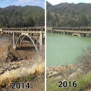 Photos show dramatic transformation as California's drought is BUSTED by rains of Biblical proportions
