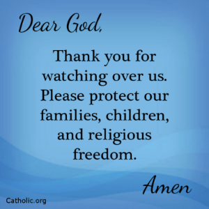 Your Daily Inspirational Meme: Thank you God, for watching over us.