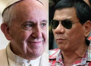 Philippine President Rodrigo Duterte offers peace to Pope Francis and the Catholic Church.