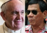 Image of Philippine President Rodrigo Duterte offers peace to Pope Francis and the Catholic Church.