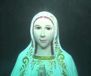 Why is this 14-foot statue of Our Lady underwater?