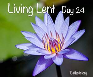 'Living Lent': Friday of the Third Week of Lent - Day 24