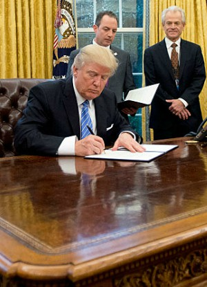U.S. President Donald Trump has signed an anti-abortion bill.