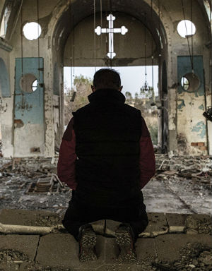 Christians in Aleppo find comfort in the prayers streaming in from around the world.