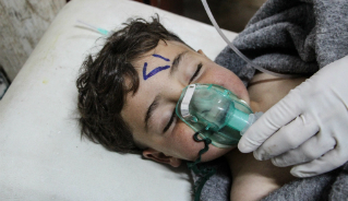 A boy clings to life following exposure to toxic nerve gas.