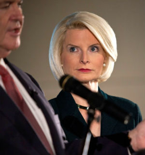 Callista Gingrich is the wife of former House Speaker Newt Gingrich.