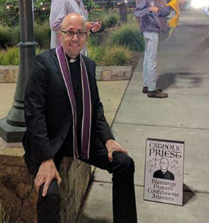 Fr. Jenuwine, parochial vicar at St. Apollinaris Parish in Napa, California had been trying to brainstorm creative ways to reach out to young adults.