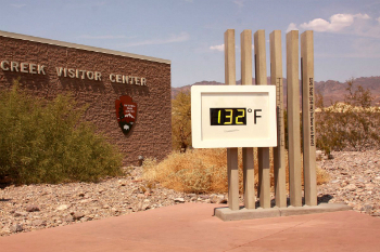 The American Southwest is baking under the first heatwave of the year. The hottest surface temperature recorded on Earth was 134 degrees in Death Valley on July 10, 1913. The secret to the record heat is that Death Valley is below sea level and temperatures rise as air sinks lower.