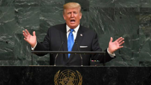 President Trump delivered his first speech to the UN this morning.