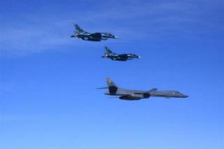 The USA, South Korea, and Japan have performed a joint exercise which included flying a bomber off the east coast of North Korea.