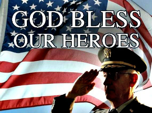 May God bless all our veterans, by whose sacrifices we remain free.